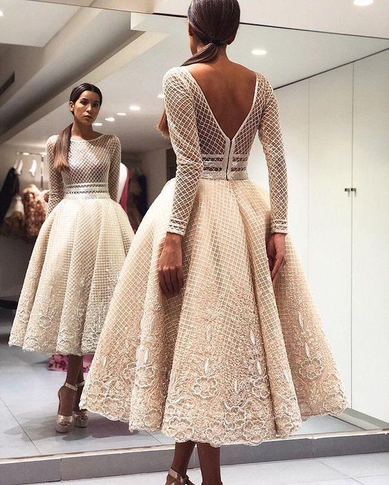 midi boy kabarık elbise
