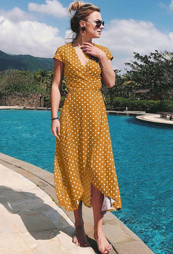 puantiyeli elbise modeli