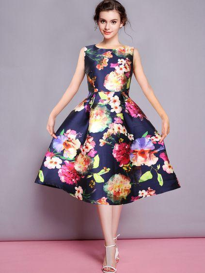 saten midi boy çiçekli elbise