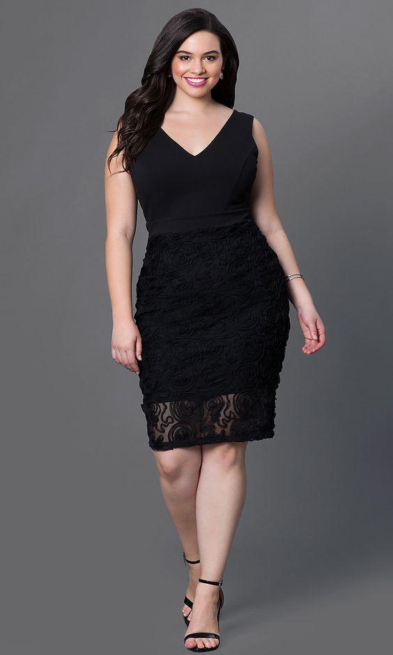 siyah dantelli kalem elbise