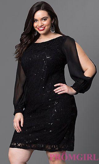 siyah parıltılı elbise modeli