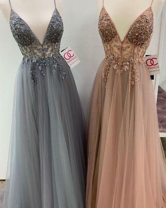 Askılı abiye elbise modelleri