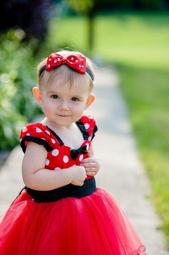 Kırmızı Mini Mouse Elbise