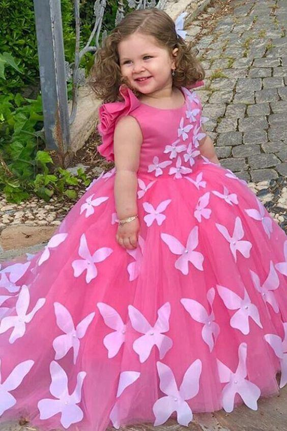 Kelebekli Prenses Elbisesi