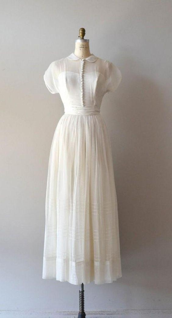 beyaz vintage elbise modelleri