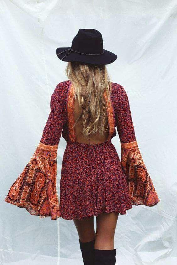 boho stili elbiseler