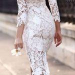 dantel işlemeli elbise modelleri
