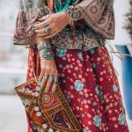 etnik desenli giyim tarzı