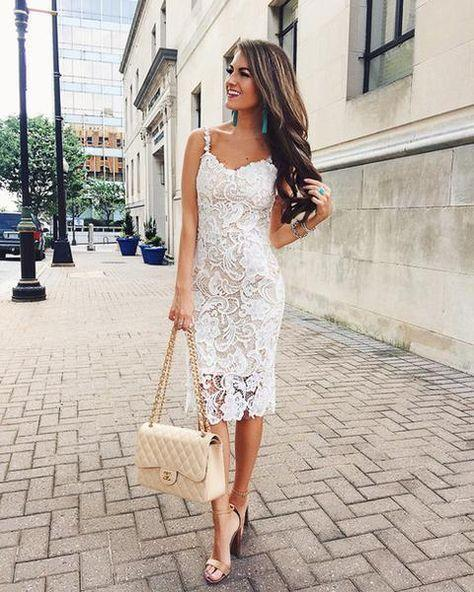 ip askılı beyaz elbise modeli