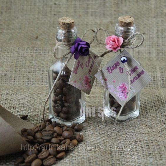 düğün için hediyelik şişeler