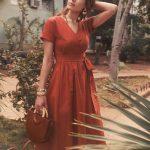 kuşaklı elbise modeli
