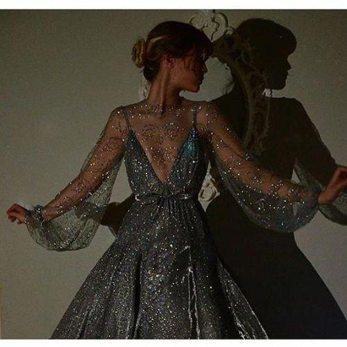 pırıltılı abiye elbise modeli