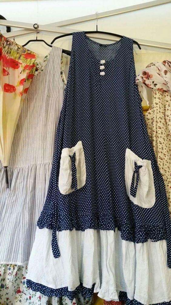 puantiyeli cepli elbise