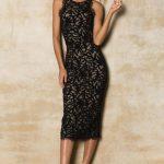 siyah elbise modeli 2019