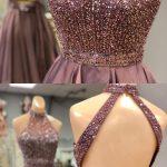 taşlı abiye elbise modeli