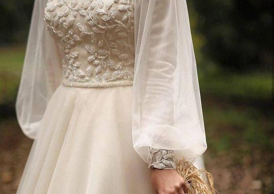 Balon Kol Tesettür Elbise Modelleri