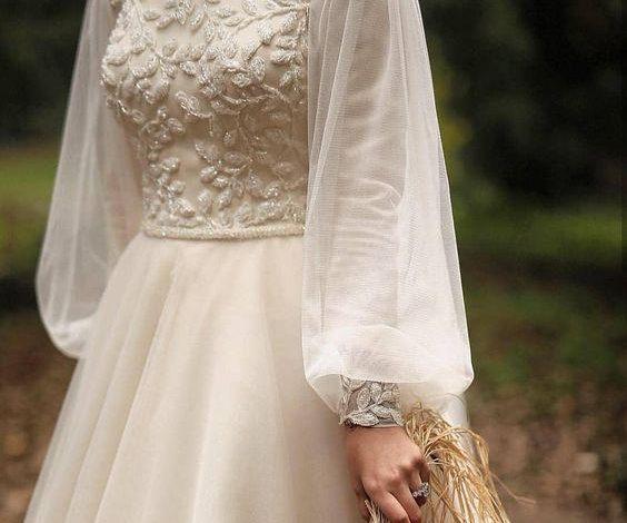 tesettür şifon abiye elbise
