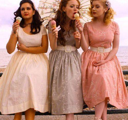 vintage model elbiseler