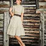 vintage model yazlık elbise