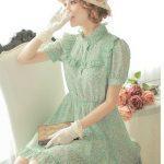 vintage yazlık elbise modeli