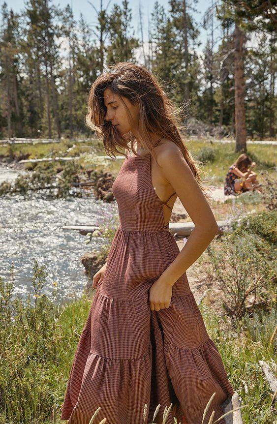 yazlık askılı elbise modeli