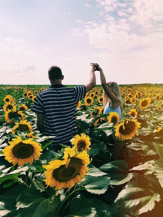 ayçiçekli sevgili fotoğrafları