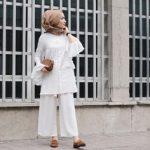 beyaz gömlek tunik kombini