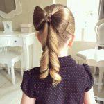 kız çocuğu fiyonk saç