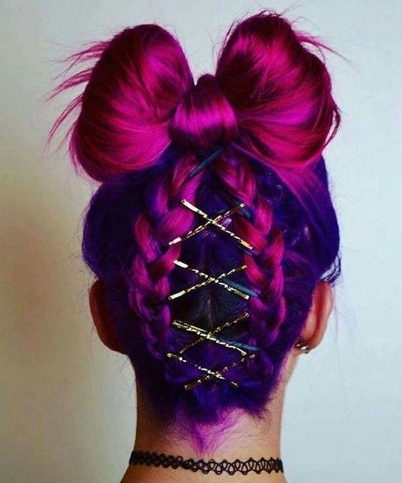 renkli saç modelleri 2020
