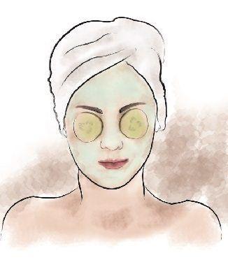 yaşlanmayı geciktiren salatalık maskesi