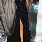 V yaka abiye elbise modelleir
