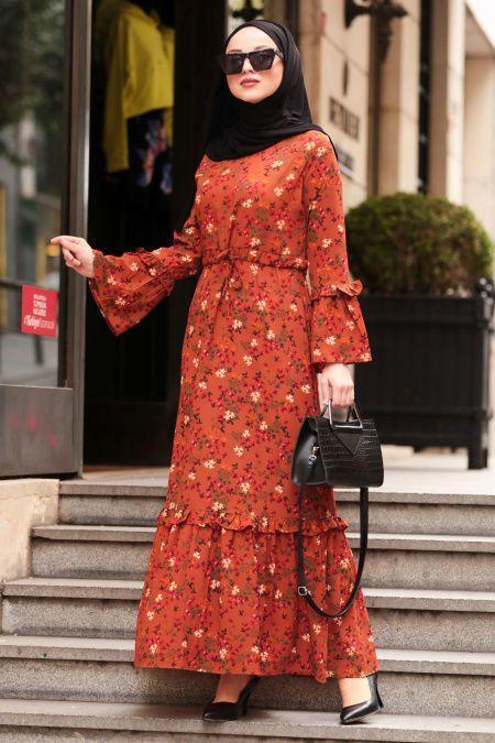 ispanyol kol çiçekli elbise modelleri