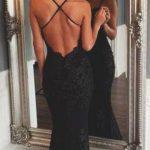 sırt dekolteli abiye elbise modeli