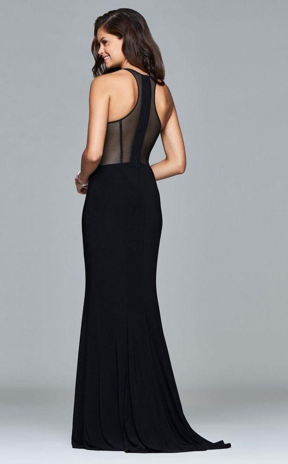 transparan abiye elbise