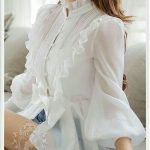 transparan beyaz şık gömlek