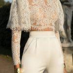transparan dökümlü bluz