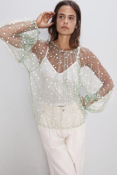 transparan gömlek modeli