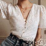vintage beyaz gömlek modeli