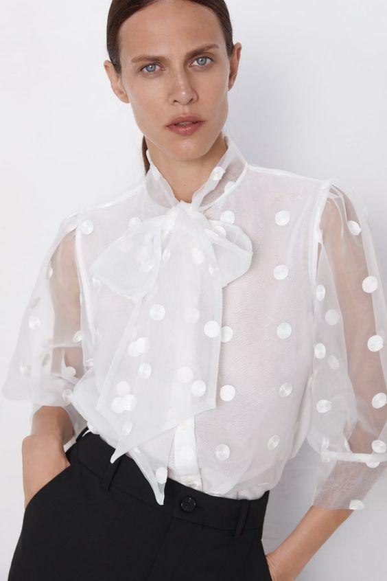 zara fiyonklu gömlek modeli