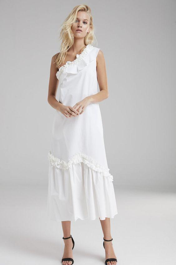 günlük beyaz elbise
