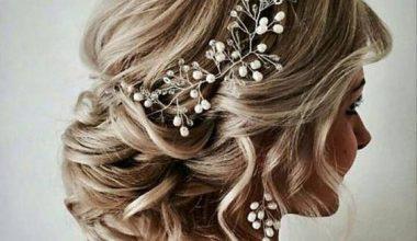 Gelin Saçı İçin Ensede Topuz Modelleri