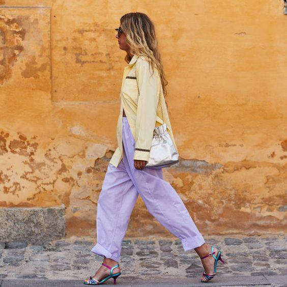 purple slouchy jeans modals