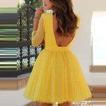 sırt dekolteli elbise modeli