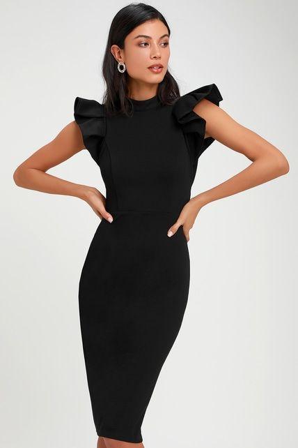 siyah kokteyl elbisesi