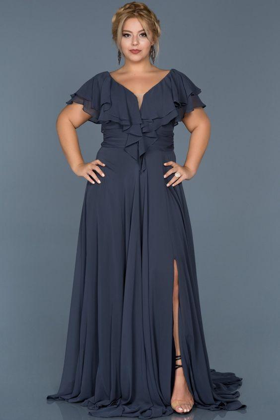 yırtmaçlı abiye elbise