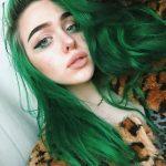 açık yeşil saç rengi ve modeli