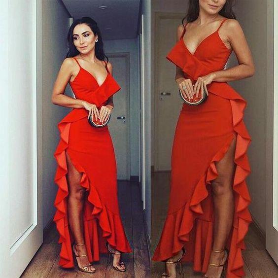 ip askılı uzun elbise modelleri
