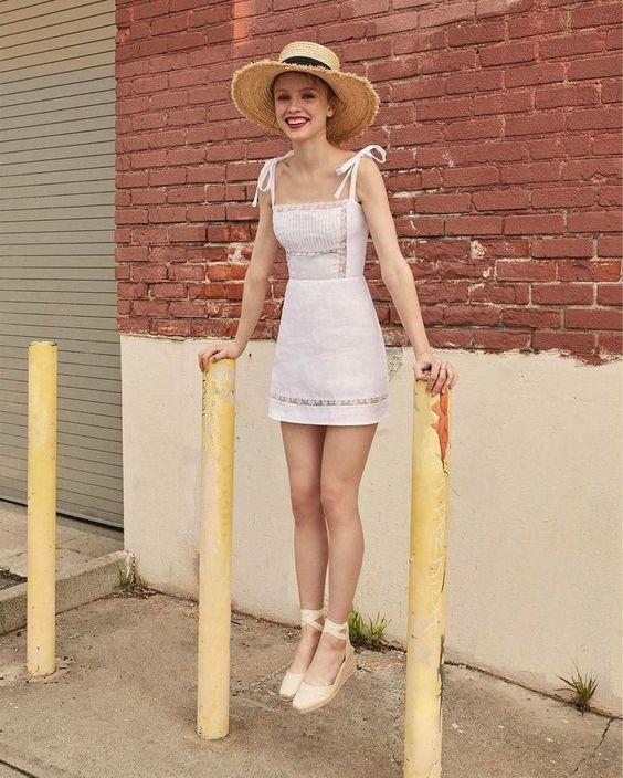 mini ip askılı elbise