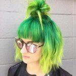 sarı yeşil saç rengi