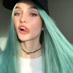 yeşil mavi saç rengi